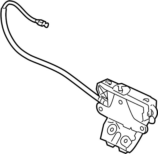 jaguar xfr lock  latch  housing  deck lid  trunk actuator