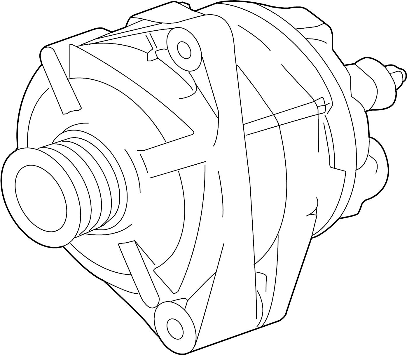 jaguar xkr-s alternator  from chassis  vin 913550  to chassis  vin k40205