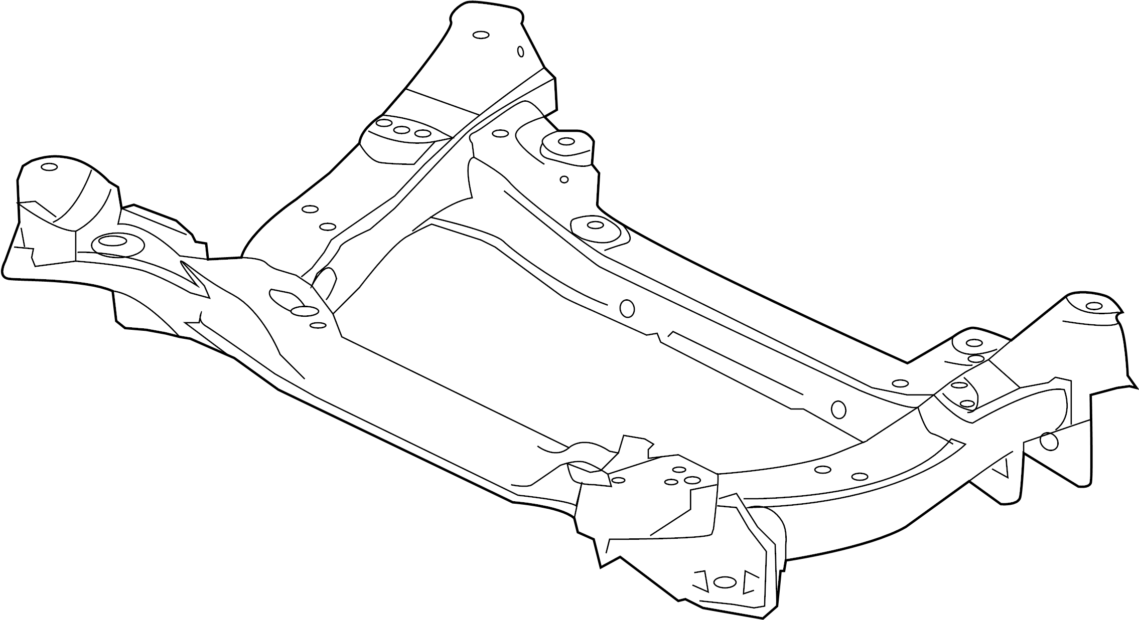 jaguar xfr crossbeam  engine cradle  w  awd  suspension