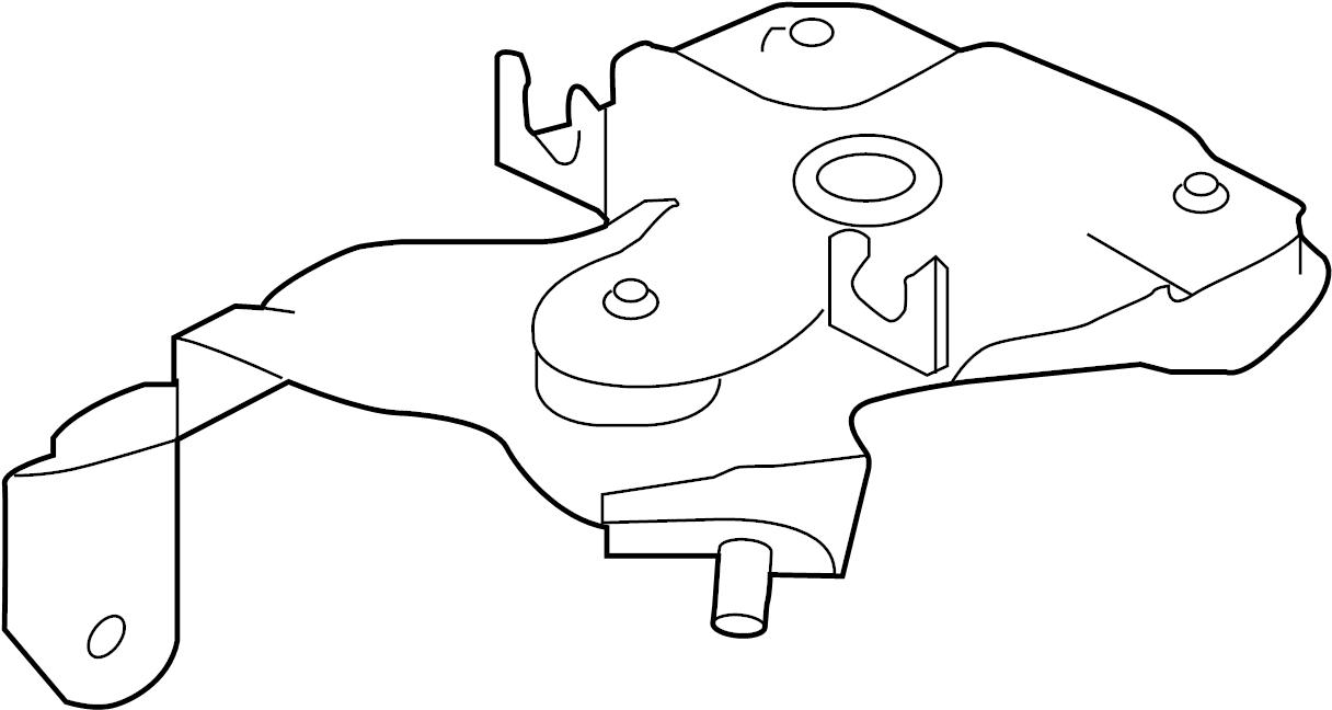 jaguar xf bracket  modulator  abs  mount  hydraulic pump