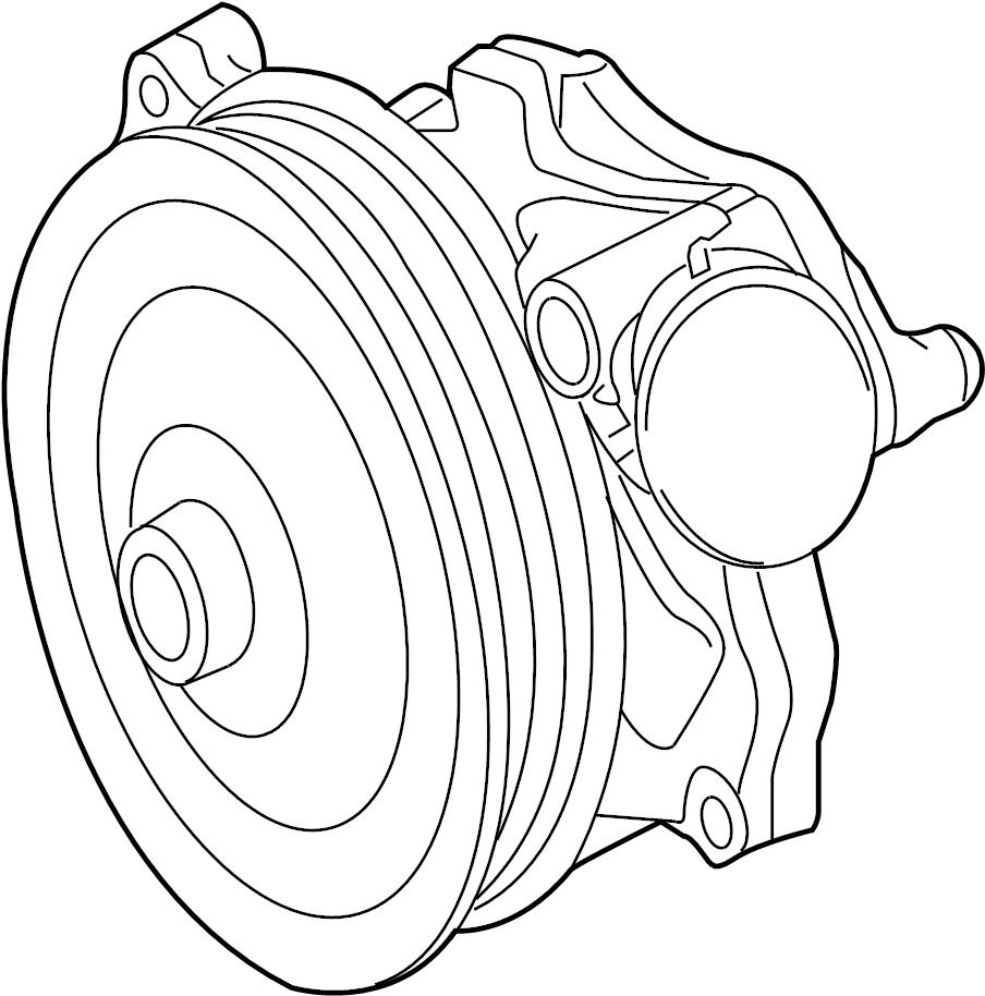 jaguar f-type engine water pump  pump