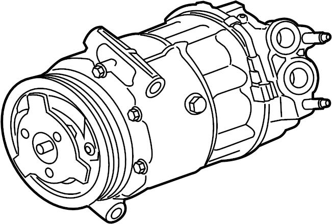 jaguar xe a  c compressor  compressor  incl  clutch  liter