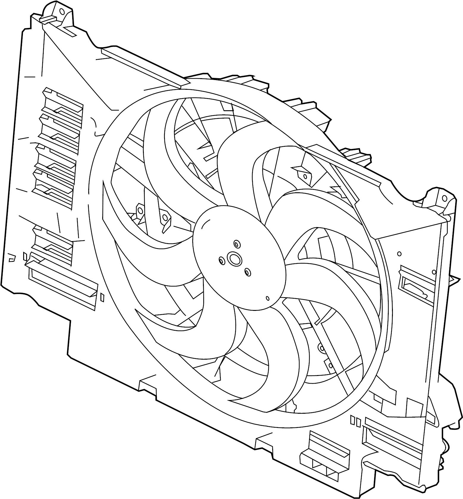 jaguar xf fan  and  motor  amplifier  cowl  module  engine