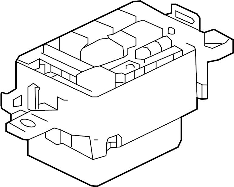 jaguar xf fuse box  junction block  panel  engine bay  rear  front