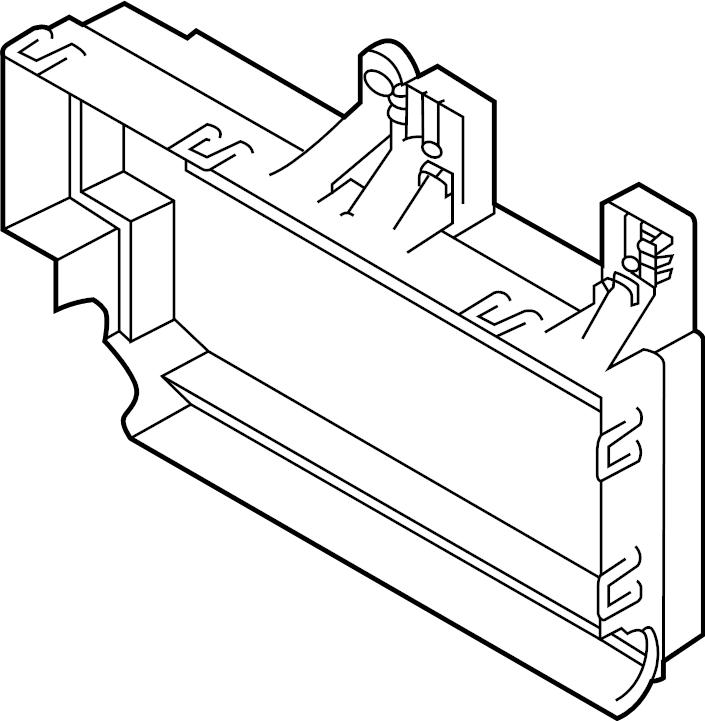 jaguar xf fuse box bracket  junction block bracket  mount bracket  luggage