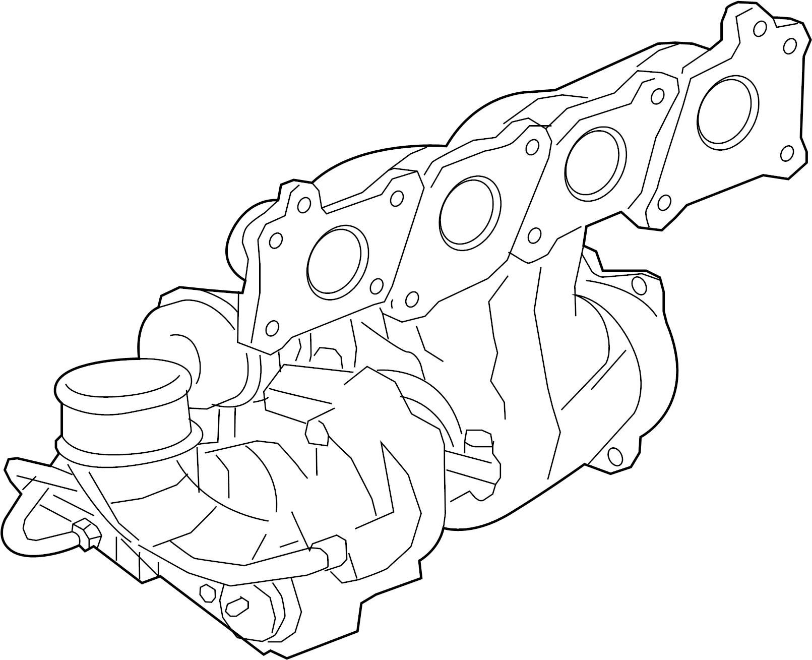 jaguar xf exhaust manifold  turbocharger  gas  liter