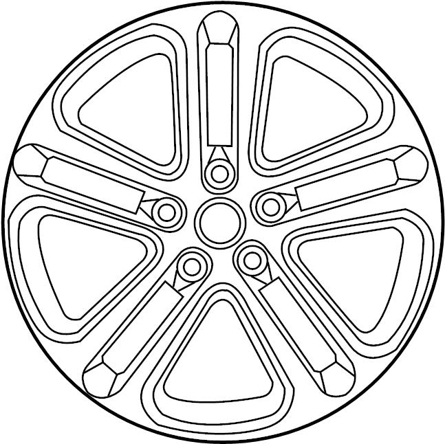 Jaguar XE Wheel. May, Front, Notice - T4N13696