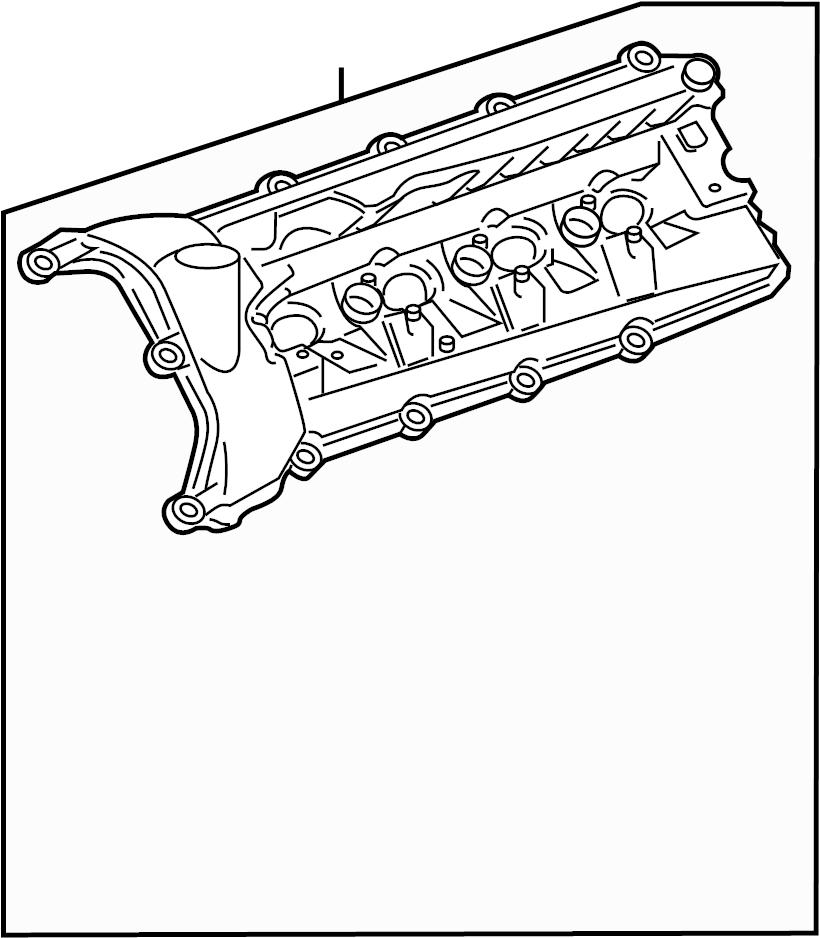 Camshaft. Engine Valve Cover. Upper