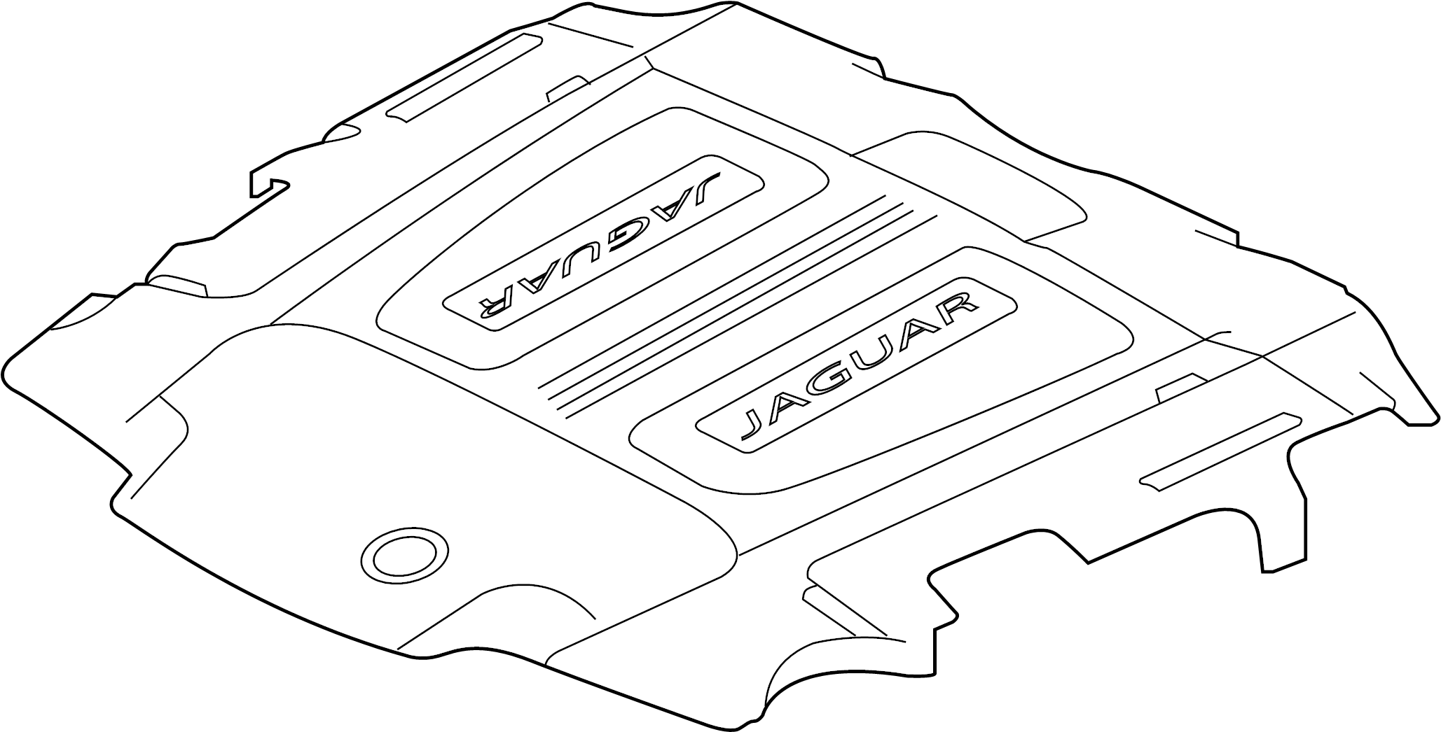 Jaguar Xj Cover Engine Engine Cover Wsupercharger